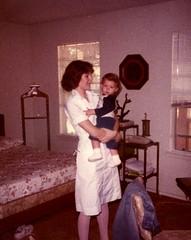 Nurse Mom and Baby Matt (rutlo) Tags: baby mom outfit bed uniform mother nurse 1983 unmade matthewrutledge rutlo