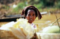A Lady At A Floating Market, Inle, Burma (El-Branden Brazil) Tags: portrait asian asia yangon burma buddhism myanmar burmese pagan bagan rangoon myanmarese