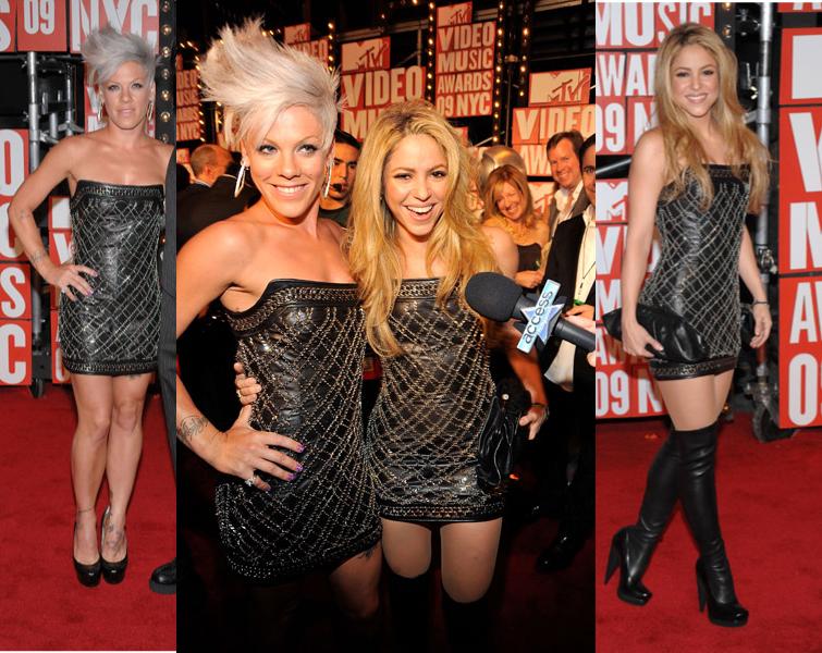 Pink & Shakira Same Dress MTV VMAs