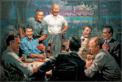 humor imaging unknownartist pokergame americanpresidents