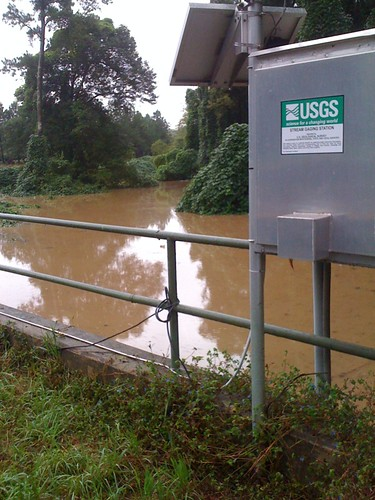 Flooding in Atlanta -- Dear USGS, Peachtree Creek much higher than usual