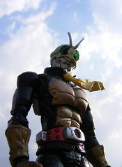 Shocker Rider (nuo2x2) Tags: sky yellow toy action next figure shocker rider articulated bandai kamen shf figuart figuarts nuo2x2