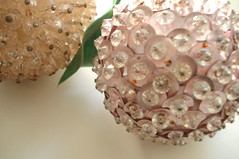 Shabby Sequined Fruit (such pretty things) Tags: old pink green leaves fruit vintage pastel pale chic sequin shabby tarnished