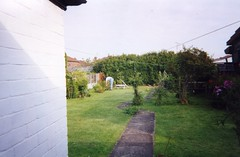 rsm 2000 02 24 Me in the Garden (robsue888) Tags: cottage southport merseyside churchtown marshside rosymo