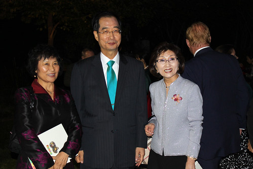 Korean Ambassador and his wife (right)