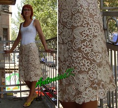 Lena_my skirt (antonina.kuznetsova) Tags: motif lace crochet skirt ukraine clothes cotton freeform crocheting irishcrochet crochetlace lacefreeform motifcrochet