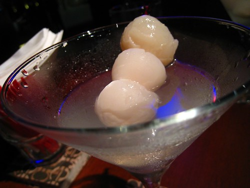 Lychee Martini - up close & personal