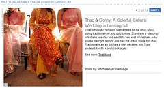 Real Weddings Feature screenshot of bride's traditional ao dai, click to enlarge