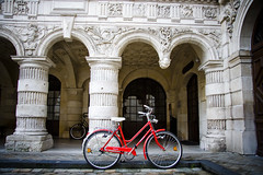 La Rochelle - Red Bicycle at City Hall