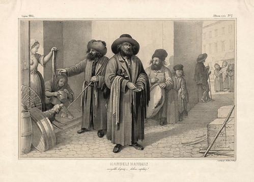 002-Comercio-Comercio-Varsovia 1841-Album de dibujos de Varsovia- Piwarski