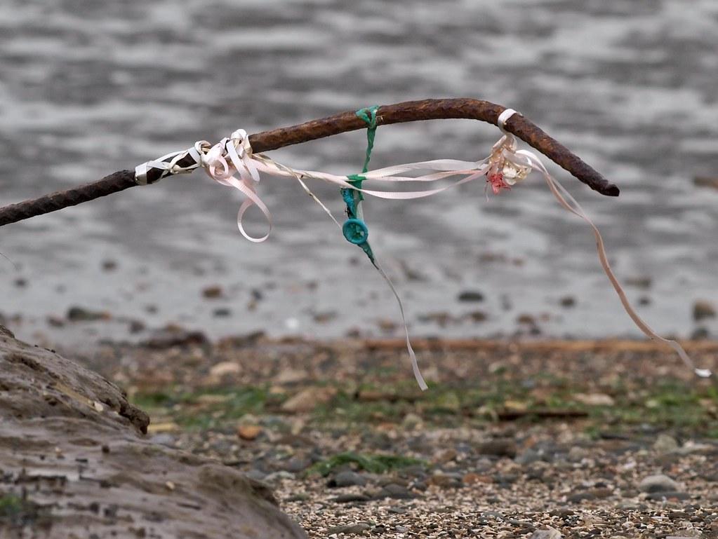 Balloon Litter on Beach