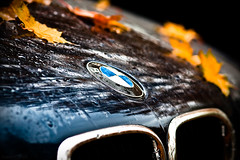We Love Machine (Joaaso) Tags: city autumn reflection fall leaves car oslo by emblem drops weekend bmw bil hst blader refleksjon helg drper grvr canonef200mmf28liiusm canoneos450d lightroom3beta