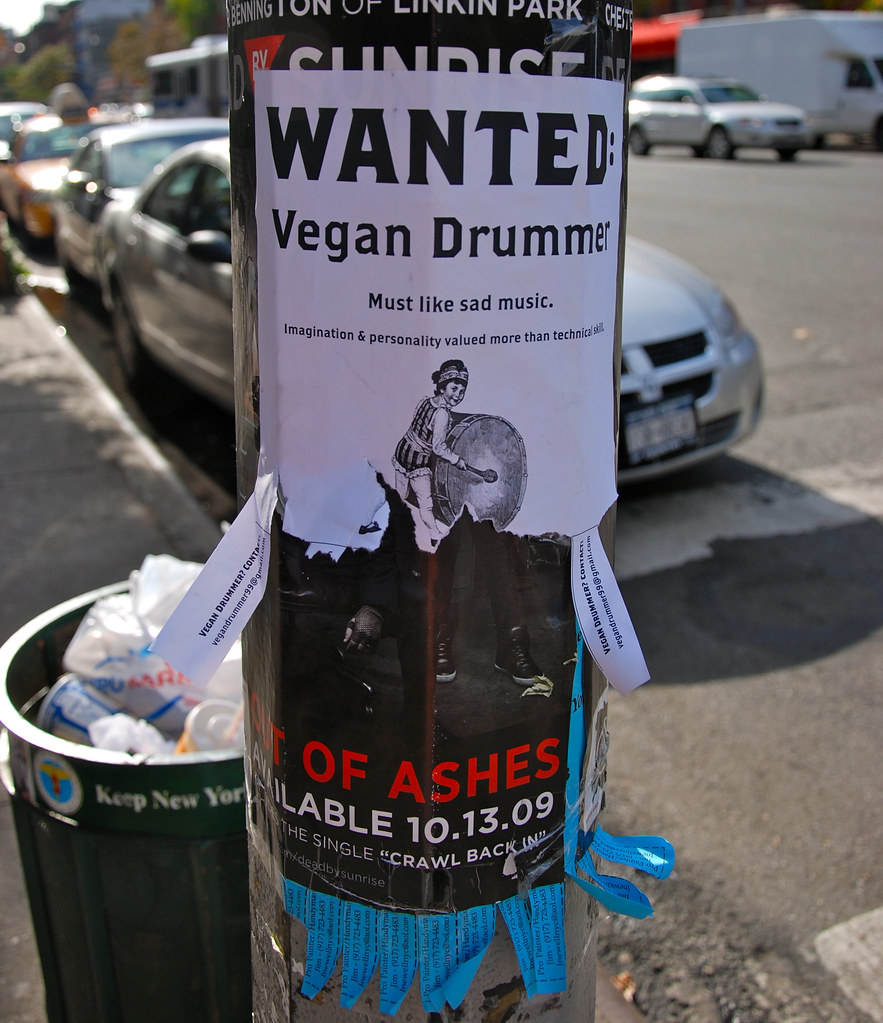 Vegan Drummer Wanted