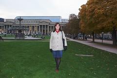 Michaela auf dem Schlossplatz