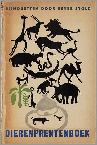 Dieren prentenboek -  silhouetten,  Reyer Stolk h
