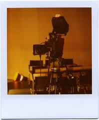 TV studio (ale2000) Tags: camera orange television studio square polaroid tv 600 instant interview slr680 televisione telecamera intervista istantanea aledigangicom roidweek2009 instantanalog