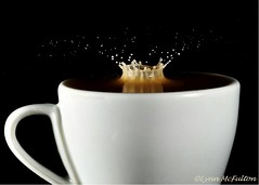 November 7 - Coffee crown... (McFulton eh!) Tags: water coffee drops shot cream pad crown espresso splash espressocup project365 strobist strobistwatershot