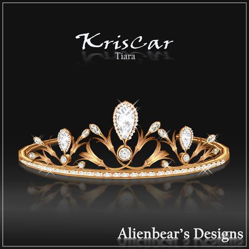 KrisCar Gold Tiara white