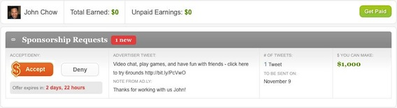 My Ad.ly Earnings