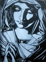 "C215 "" Praying"" (subism) Tags: stencil c215 subism stencilhistoryx subismcouk"