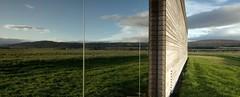 (krbnah) Tags: reflection tourism glass grass architecture scotland highlands moor glazing culloden moorland mirroredglass garethhoskinsarchitects cullodenbattlegroundvisitorcentre