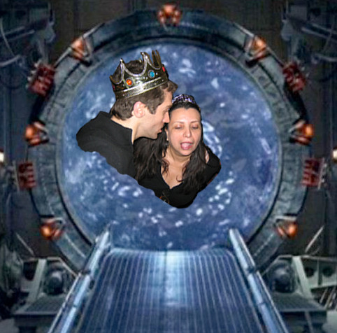 Carmen & Lucky in the Stargate