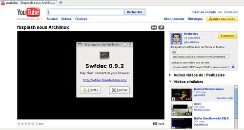 Swfdec 0.9.2 avec Youtube