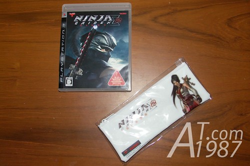Ninja Gaiden Sigma 2 Japanese version with the Asia version pencil pouch