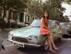 Citroen GS1220 Club with Margarita Voyias London 1973 (photographer695) Tags: classic cars club with citroen citroën margarita gs 1973 1220 gs1220 voyias