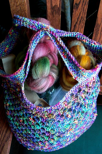 Noro Sakura market bag finished-3