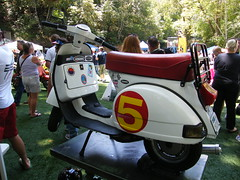Tony Simoni's Speed Racer Vespa T5 (Bagel!) Tags: california july 2009 amerivespa