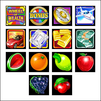 free Wheel of Wealth Multiplayer slot game symbols