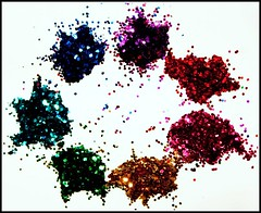 25 November 2009 (Copperhobnob) Tags: macro glitter rainbow bokeh explore tribute fujiellena