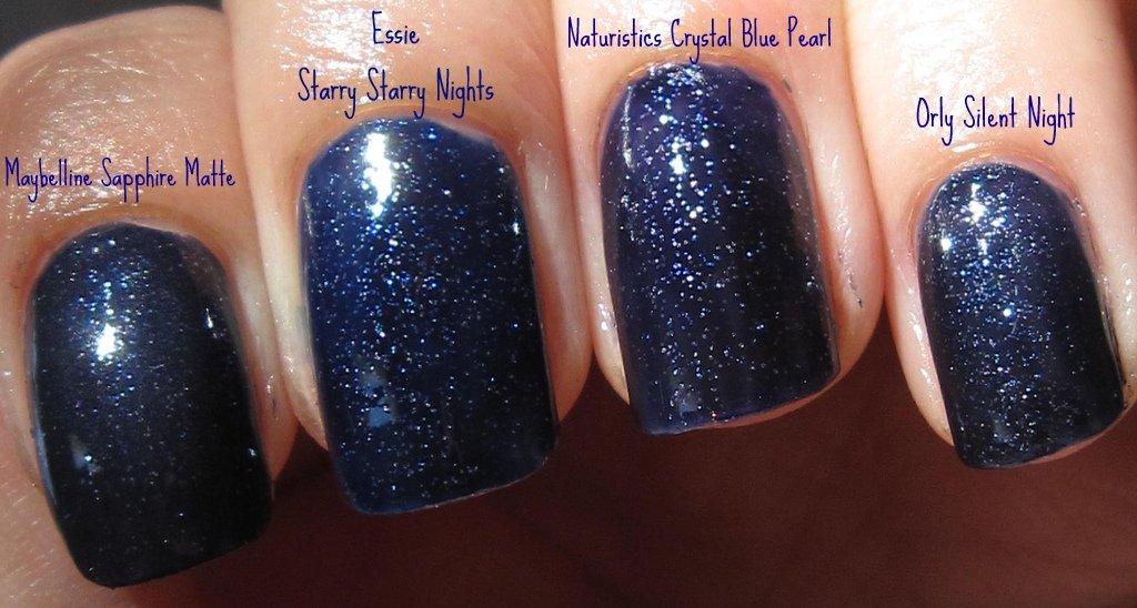 Polish or Perish: Blue polishes with silver glitter comparisons