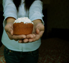For you! (starsinmysocks) Tags: life selfportrait muffins baking hands random timer frosting nikond40