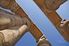 The Pillars of Luxor (SonOfJordan) Tags: old trip travel blue light shadow sky colour rock canon temple eos high ancient ruins day egypt column gigantic luxor xsi 450d samawi top20travelpix sonofjordan shadisamawi wwwshadisamawicom