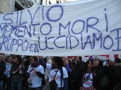 No B day - minacce? (LiberaReggio) Tags: b roma san day no massa piazza popolo viola mafia berlusconi giovanni manifestazione repubblica corteo noponte folla nobday