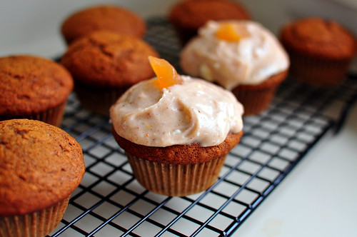 GINGERBREAD CUPCAKES WITH CARDAMOM CREAM CHEESE FROSTING