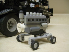 M3 Halftrack Engine, left (formula_bird) Tags: truck lego military turret aa halftrack maxon m3halftrack