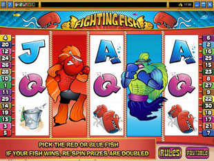 free Fighting Fish gamble bonus game