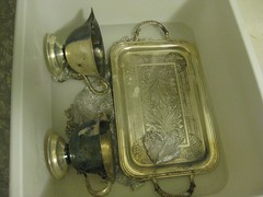 Silver Plated Heirlooms during cleaning