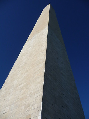 Washington Monument and blue skies