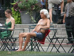 Anyone got a title for this? (~ Mai ~) Tags: old hairy newyork grey manhattan newyorker topless ewww hairychest sunbake