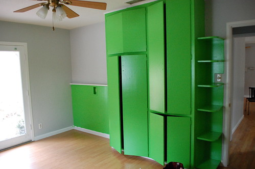 the crazy green closet