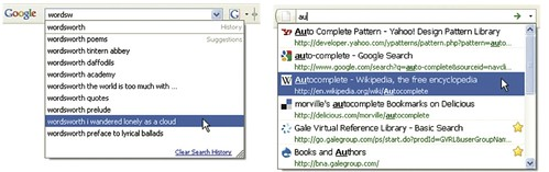 Autocomplete in Google and Firefox