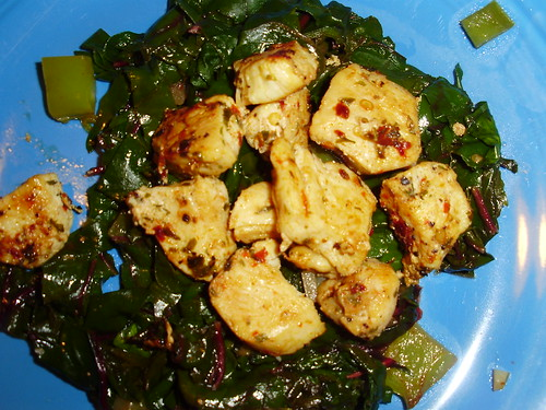Swiss Chard with Chicken
