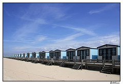 Blue caravan (dreaming through the noise) (AurelioZen) Tags: beach netherlands rotterdam europe hoekvanholland beachhouses keepingupwiththejoneses beachurbanization beachurbanism pirvatizationofpublicspace urbanshangrila vinexontour vinexationonthebeach tamronsp1750mmf28xrdiiildaspifvc