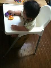 IKEAの赤ちゃん椅子を頂きました! (5/22)