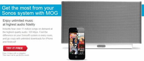 MOG on Sonos