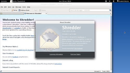Shredder (Thunderbird en version de développement) en 7.0 pré-alpha1 ?